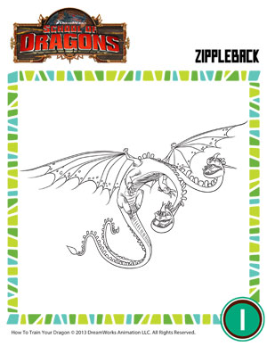 Zippleback 3 dragon coloring pages school of dragons zippleback 3 how to train your dragon ccuart Choice Image