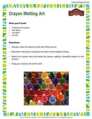 Crayon Melting Art - Fun Science Experiment for Kids