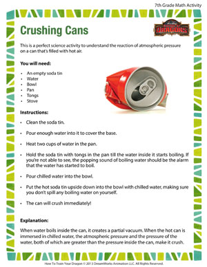 Crushing cans cool and free science activity pdf for grade 7 crushing cans printable seventh grade science activity solutioingenieria Gallery