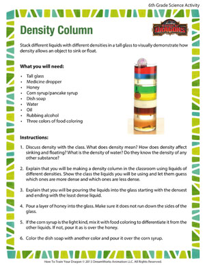 8th grade science worksheets density