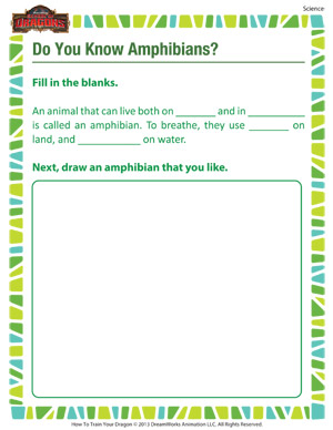 Do You Know Amphibians – Science Worksheet On Amphibians –