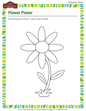 Flower Power - Free Kindergarten Science Worksheets - School of ...