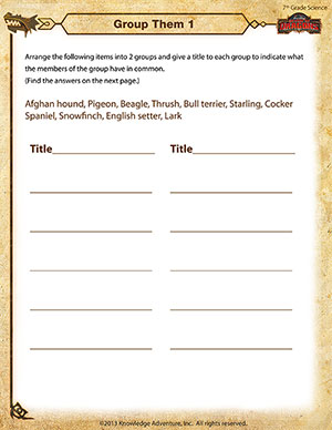 Worksheets Grade 7 Science Worksheets group them 1 free 7th grade science worksheet school of dragons printable worksheet