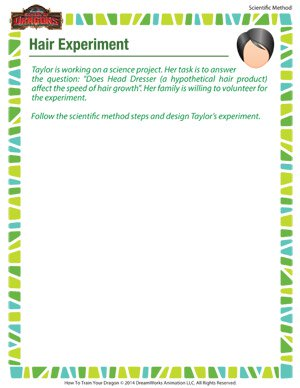 Hair Experiment - Printable Scientific Method Worksheet