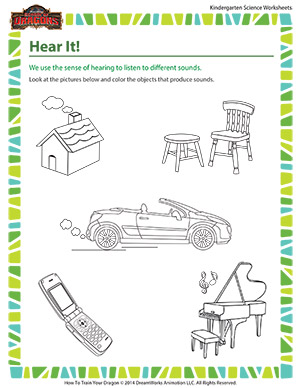 Hear it human body science for kindergarten school of for Science coloring pages for preschoolers