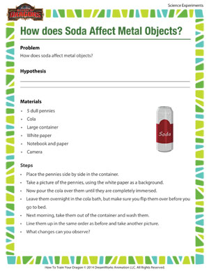 How does Soda affect Metal Objects?