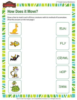 Printables Science Worksheets 2nd Grade how does it move printable science worksheets for second grade free fun worksheet