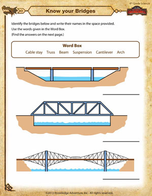 worksheet know your bridges printable fourth grade science worksheet ...