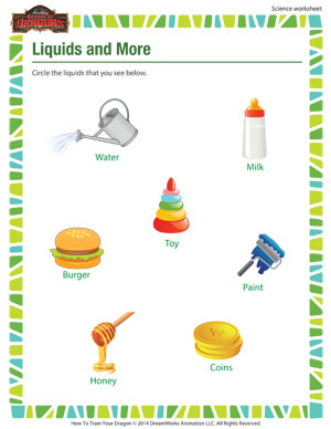 Worksheets 1st Grade Science Worksheet liquids and more free printable 1st grade science worksheet worksheet