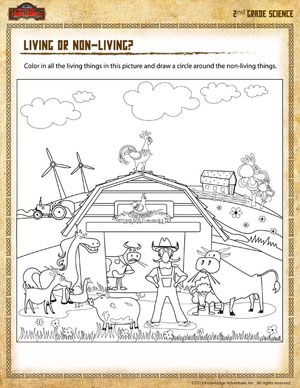 Living or Non-living? – Free 2nd Grade Science Worksheet - School ...