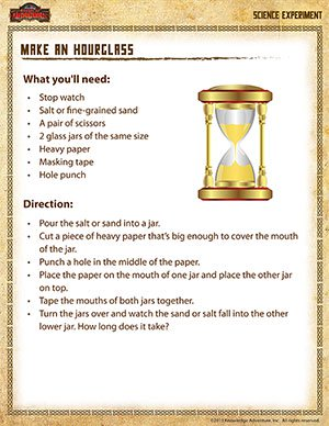 Make an Hourglass - 4th Grade Science Experiment