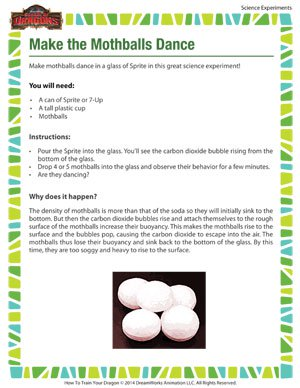 Make the Mothballs Dance - Science Experiment for Kids