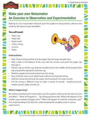 Make your own Noisemaker – An Exercise in Observation and Experimentation - The science behind noisemakers