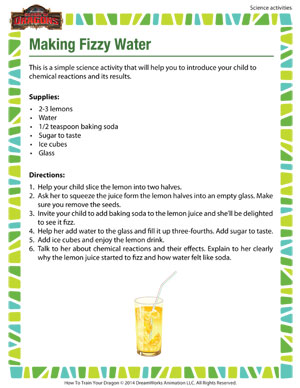 Making Fizzy Water - 2nd grade science activity
