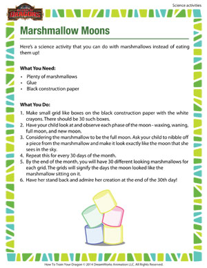 Marshmallow Moons - 2nd grade science activity
