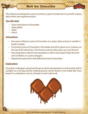 Melt the Chocolate – Kindergarten Science Activities Online ...