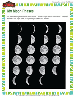 math worksheet : my moon phases  free kindergarten science worksheet  school of  : Free Kindergarten Science Worksheets