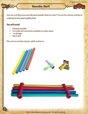 Noodle Raft - Printable 3rd Grade Science Activity