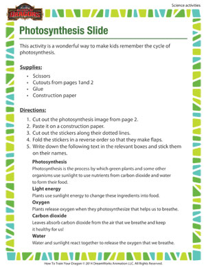Photosynthesis Slide – Science Activities for 4th Grade Kids ...