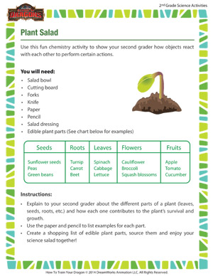 Plant Salad - Teaching about electricity through fun activities