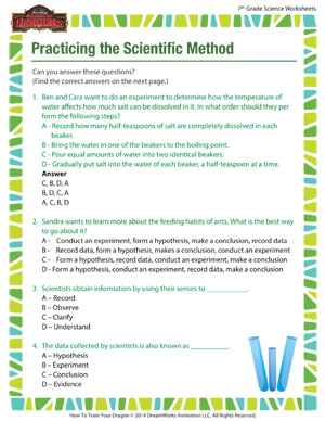 Practicing the Scientific Method – Science Worksheet for Middle ...