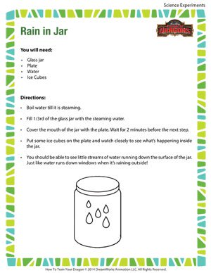 Rain in a Jar - Fun Science Experiment for Kids