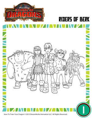 Free Riders of Berk Coloring Page