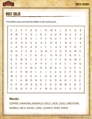 Rock Solid –Free Earth Science Worksheet for 4th Grade – School of ...