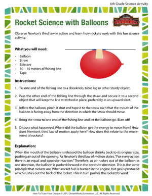 Rocket Science with Balloons - Fun Science Activity for Kids - School ...
