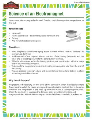 Science of Electromagnet - Fun Science Experiment for Kids