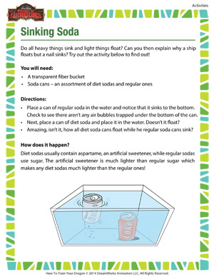 Sinking Soda - 2nd grade science activity