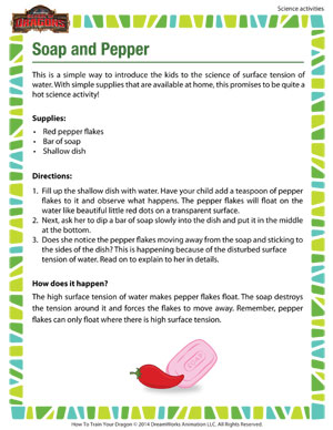 Soap and Pepper - 2nd grade science activity