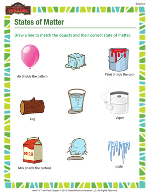 States of Matter – Science Printable for Grade 3