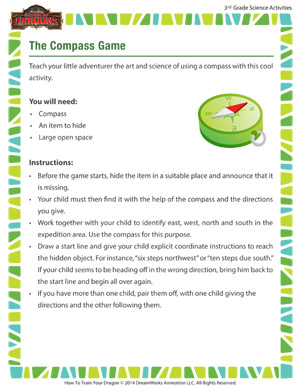 Download 'The Compass Game' - 3rd grade science activity online