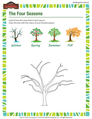the four seasons science worksheets for kindergarteners school of dragons. Black Bedroom Furniture Sets. Home Design Ideas