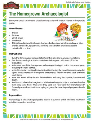 Browse 'The Homegrown Archaeologist' - School of Dragons' Free 3rd Grade Science Activity