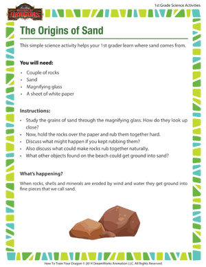 The Origins of Sand - Sand science for first grade