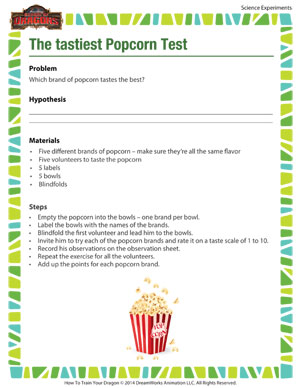 The Tastiest Popcorn Test - Science experiment for popcorn taste