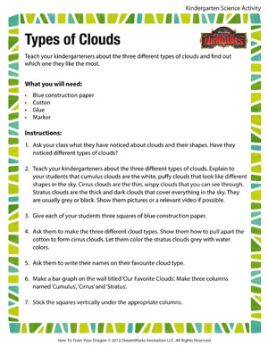 Number Names Worksheets : clouds for kids worksheets ~ Free ...
