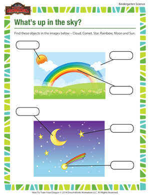 What's up in the Sky? - Fun Science Worksheets for Kids - School of ...