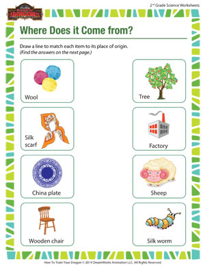 Free printable worksheets for 2nd grade science