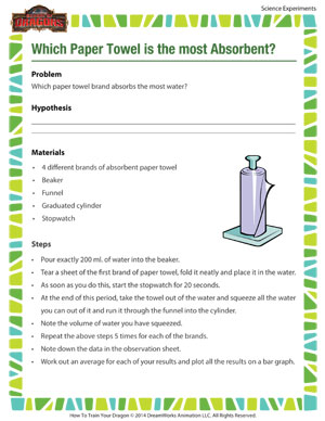 Which Paper Towel is the most Absorbent? - Science experiment for paper towel absorbency