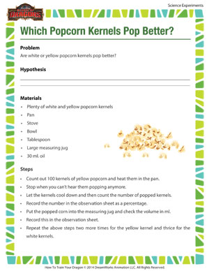 Which Popcorn Kernels Pop Better? - Science experiments online