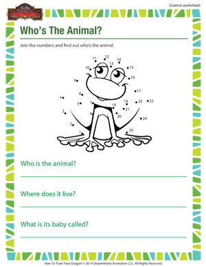 Printables Science Worksheets For 1st Grade whos the animal printable science worksheet for 1st grade kids free kids