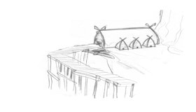 Viking Hut, Sketch