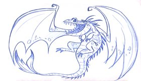 Dragon Sketch, Flying