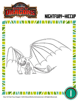 Color Night Fury And Hiccup Dragon Resources Sod