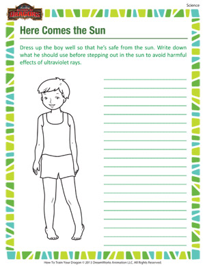 Here Come The Sun – Science Worksheet for Grade 3